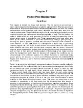 Insect Pest Management - University...