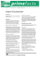 Organic Fruit Production - New Sout...