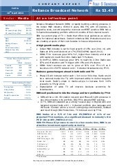 Company report  reliance broadcast ...
