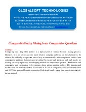 Comparable entity mining from compa...