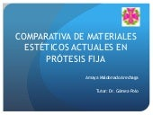 Comparativa materiales estéticos ac...
