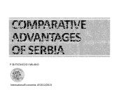 Comparative Advantages of Serbia