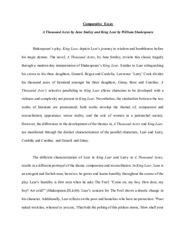 example comparison essay