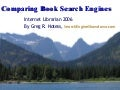 Comparing Book Search Engines