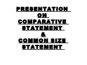 Comparitive and common size