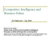 Competitive Intelligence And Busine...