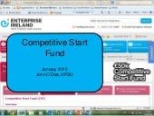 Competitive start fund information and tips  jan 2015