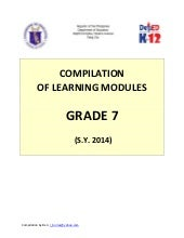 Compilation of Learning Modules for...
