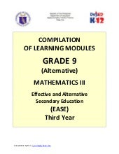 Grade 9 (Alternate) Mathematics III...