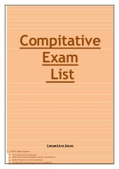 Compitative exam list
