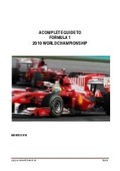 Complete Guide To F1 2010 World Cha...