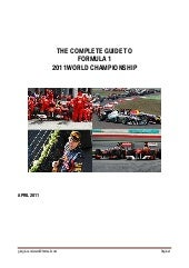 Complete guide to f1 2011 world cha...