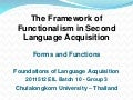 Functionalism Framework in Language Acquisition