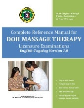 COMPLETE REFERENCE MANUAL FOR DOH MASSAGE LICENSURE EXAMINATIONS English - Filipino Ver. 1.1