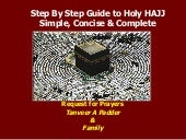 Step by Step Guide to Holy Hajj /Haj