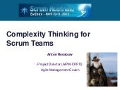 Complexity Thinking for Scrum Teams
