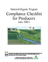 National Organic Program Compliance...