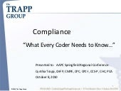 """Compliance: What Every Coder ..."