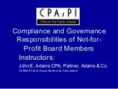 Compliance And Governance For Not F...