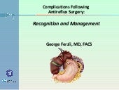 Complications Following Antireflux ...