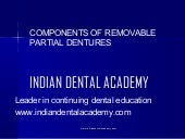 Components of removable partial den...