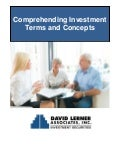 David Lerner Associates: Comprehend investing terms