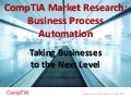 CompTIA Market Research on Business Process Automation