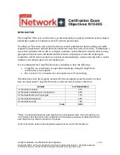CompTIA Network+ Objectives