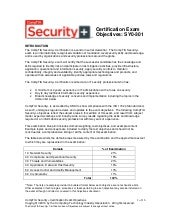 CompTIA Security+ Objectives
