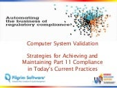 Computerized System Validation Busi...