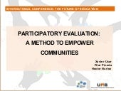 Participatory evaluation: a method ...