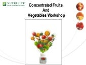 Concentrated Fruits Vegetables