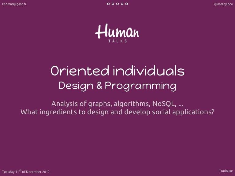 Conception et programmation orientées individus