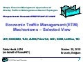 Economic Traffic Management (ETM) Mechanisms – Selected View