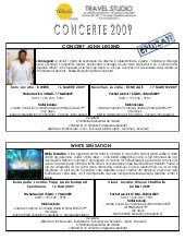 Concerte 2009   Travel Studio