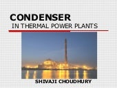 Condenser in thermal power plants