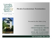 Condominium Terminations (Florida)