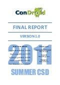 Condroid KTH Summer CSD 2011 - Final Report