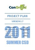Project Plan - Condroid KTH Summer CSD 2011