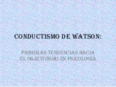 Conductismo De Watson Power Point
