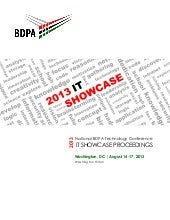2013 BDPA IT Showcase Proceedings