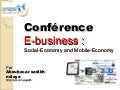 Conference sur le e business, m-business et s-business