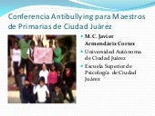 Conferencia antibullying para maest...
