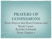 Confession prayers