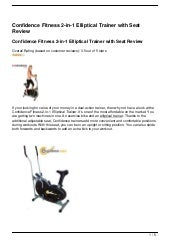 Confidence Fitness 2-in-1 Elliptica...