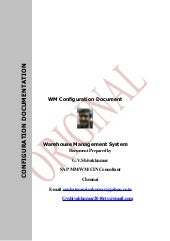 Configuration documentation wm