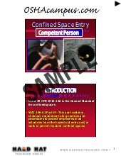 Confined space 8 hr competent perso...