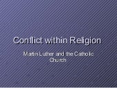 Conflict within religion