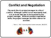 Conflict and negotiation presentation