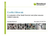 Conflict minerals – An evaluation o...